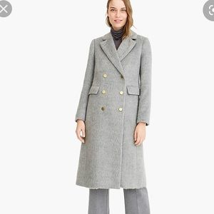 NWT J.crew  collection long brushed wool top coat